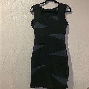 Skin tight little black dress